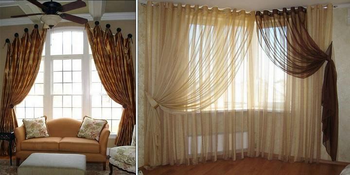 Tende luminose nel soggiorno. Scegli le tende per il soggiorno in ...