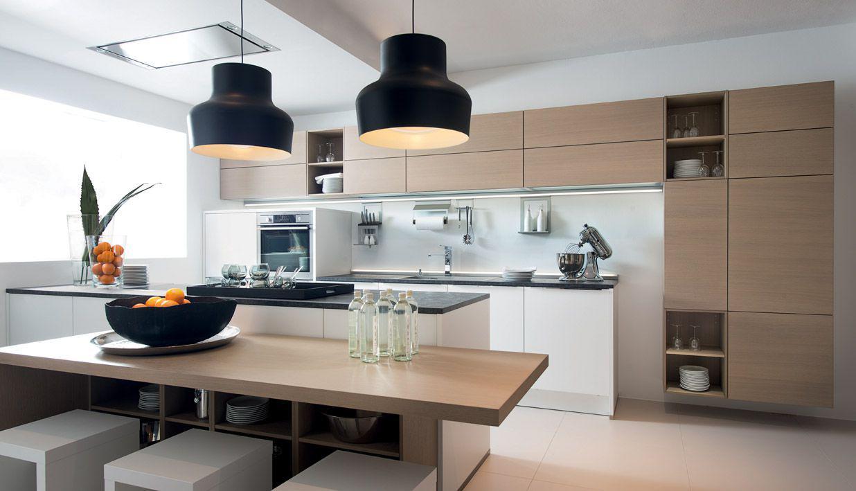 La correcta ergonomía de la cocina: un proyecto con la disposición ...