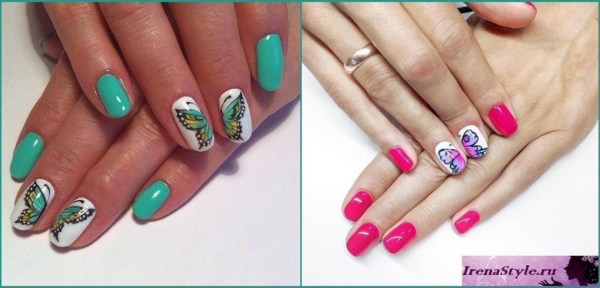 Nails chaqueta blanca con una mariposa. Mariposas en las uñas Diseño ...