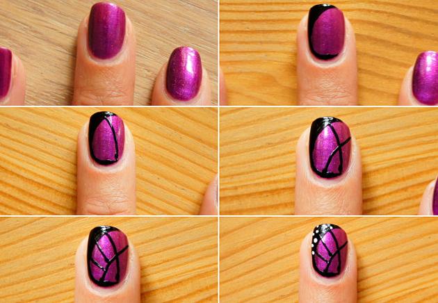 как рисовать на ногтях пошаговое фото